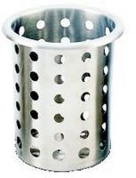 Емкость для столовых приборов d9,5см h13см, перфорированная, нерж.сталь HappyShef.by