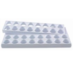 "Формы пластик. для пирож. ""Шестиугольник"" d40мм h25 мм, 20гр., 32 порц., 20х40см"