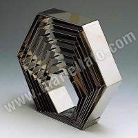 Форма кондитерская «Шестиугольник» 19,5х22 см h 4 см, нержав. сталь