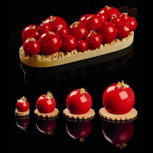 """Форма силиконовая PAVOFLEX для пирож. 3D """"Сфера"""" d40мм h36мм, 33мл, 24 ячейки"""