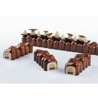 Форма силиконовая PAVOFLEX для пирож. 3D «Дада» 360х42мм h37мм, 420мл, 5 ячеек