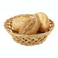 Корзина для хлеба круглая 23см h 7см крупн. перепл., полиротанг HappyShef.by