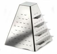 """Этажерка фуршетная """"Пирамида"""" для подачи закусок (комплиментов), нерж.сталь"""