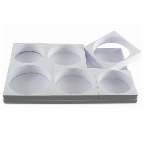 """Формы пластик. для торта """"Круг"""" d16-18-20см h5см, 6 ячеек"""