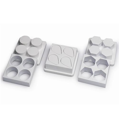 """Формы пластик. для пирож. """"Шестиугольник"""" d40хh25мм, 20гр., 32 порц., 20X40 см"""