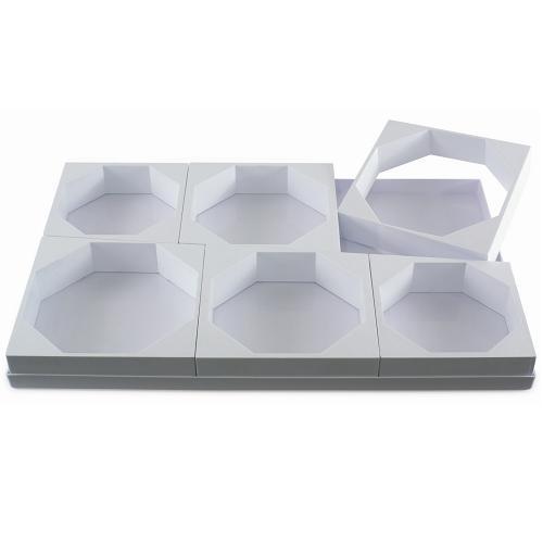 """Формы пластик. для торта """"Шестиугольник"""" d16-18-20см h5см, 6 ячеек"""