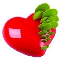 Форма для мороженого/суфле 3D «Сердце» 150х140мм h49мм (объем 0,6л), силикон