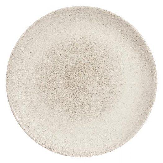 Тарелка мелкая 28,8см, без борта, цвет Raku Agate Grey, Studio Prints