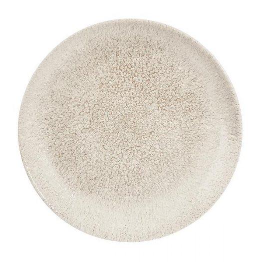 Тарелка мелкая 21,7см, без борта, цвет Raku Agate Grey, Studio Prints